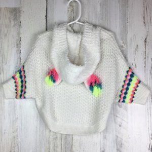 Cat & Jack   Unicorn Rainbow Poncho Knit Hoodie